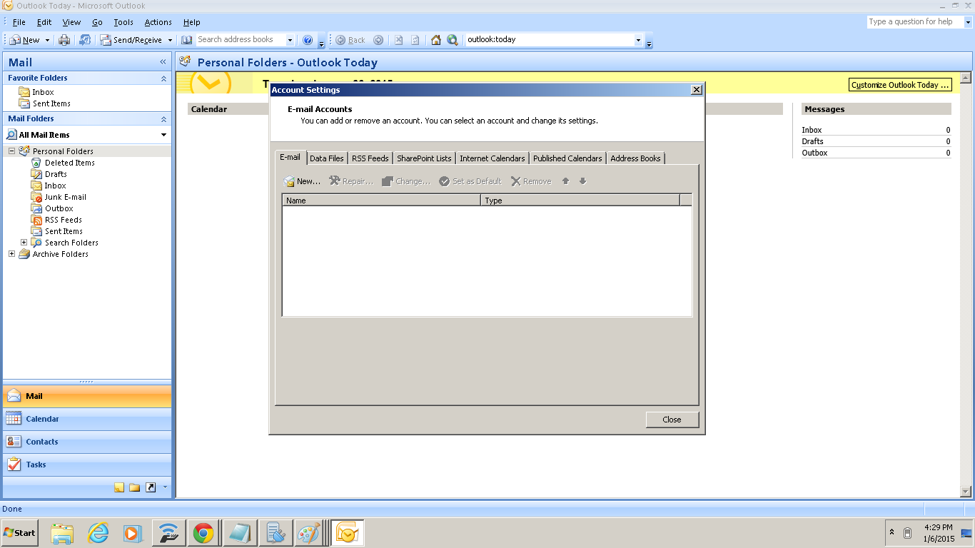 OUTLOOK SETTING FOR HMAIL SERVER - مرکز آموزش - Strad Hosting and